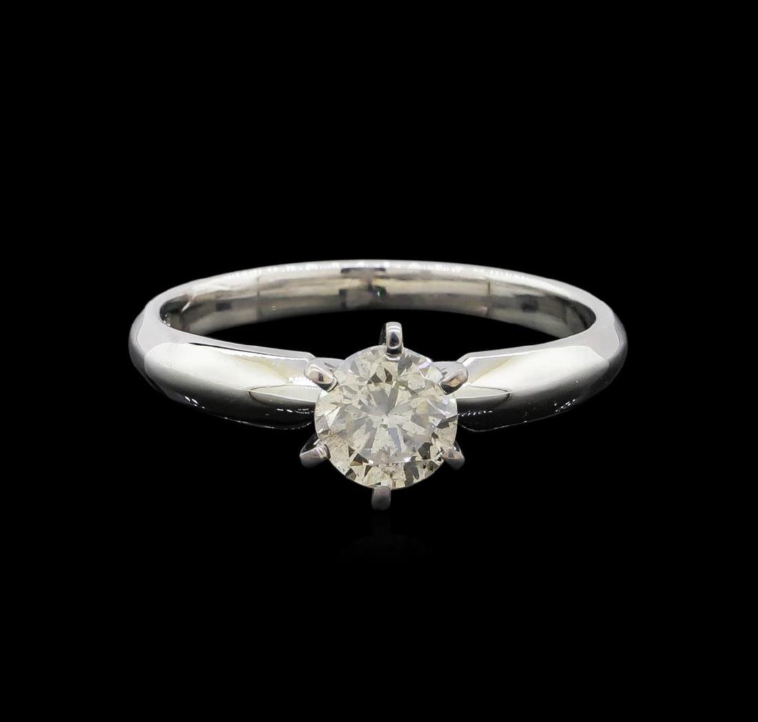 14KT White Gold 0.85 ctw Round Cut Diamond Solitaire - 2