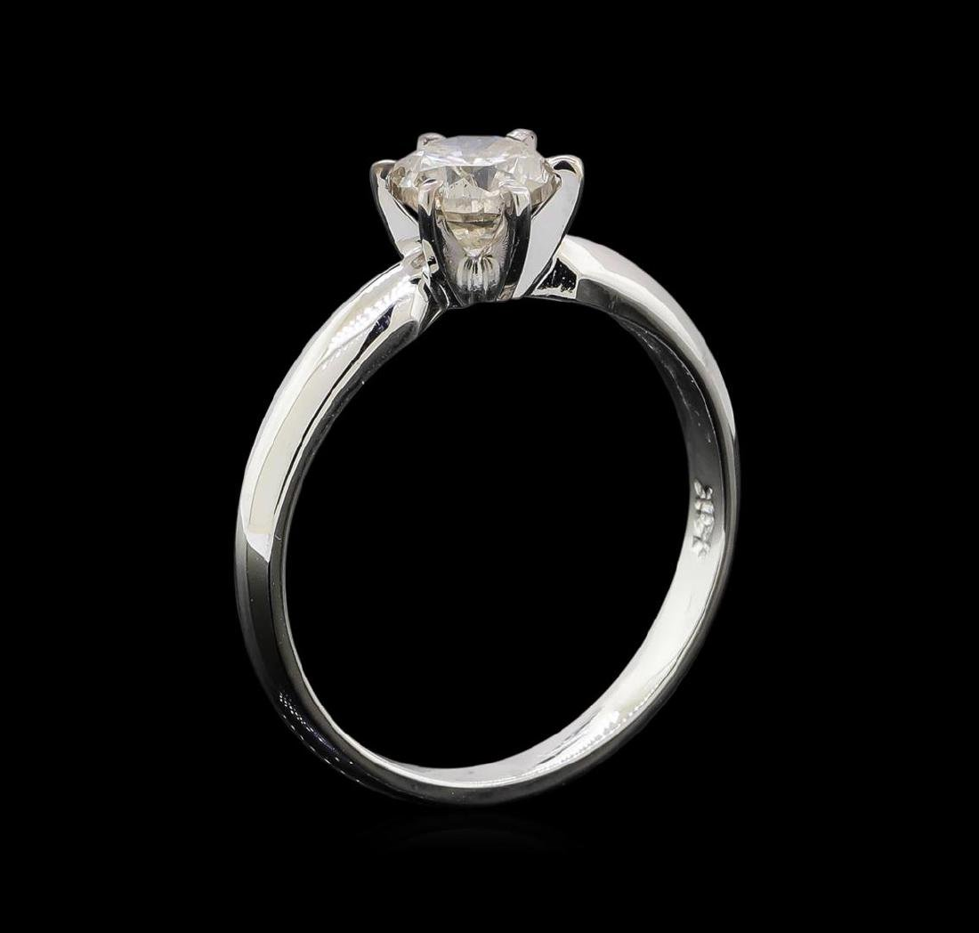 14KT White Gold 0.85 ctw Round Cut Diamond Solitaire - 4