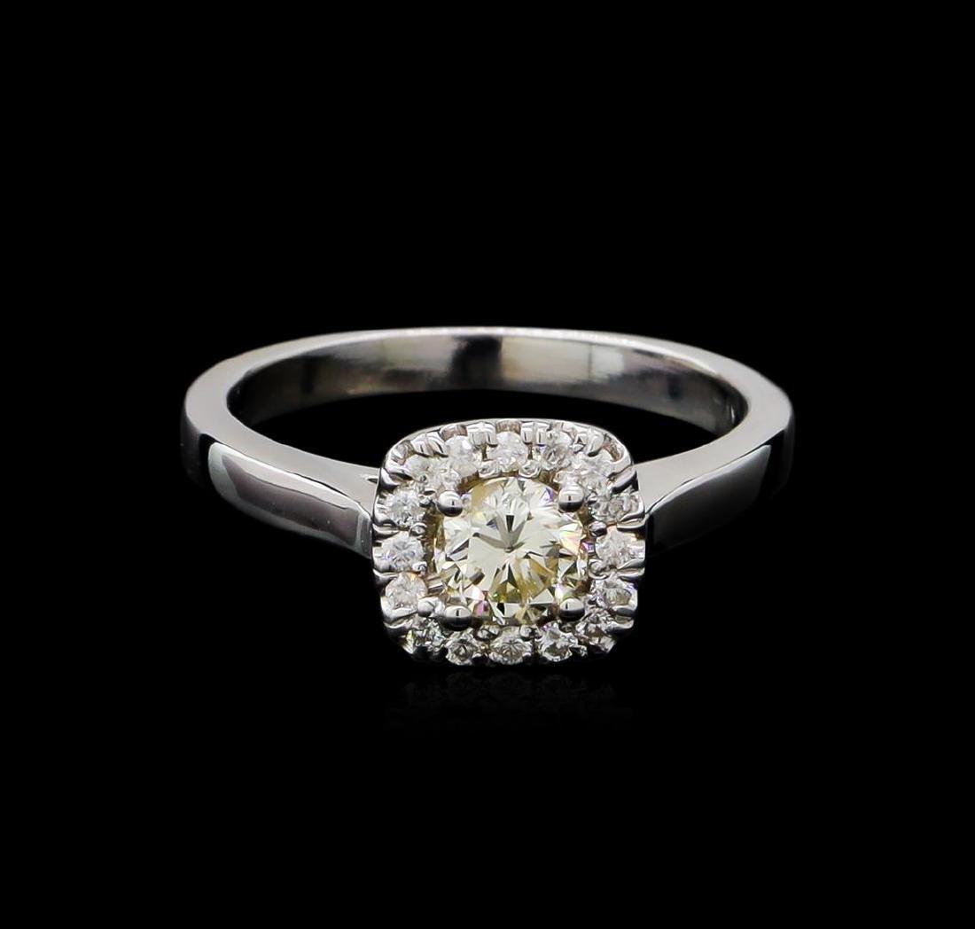 0.66 ctw Diamond Ring - 14KT White Gold - 2