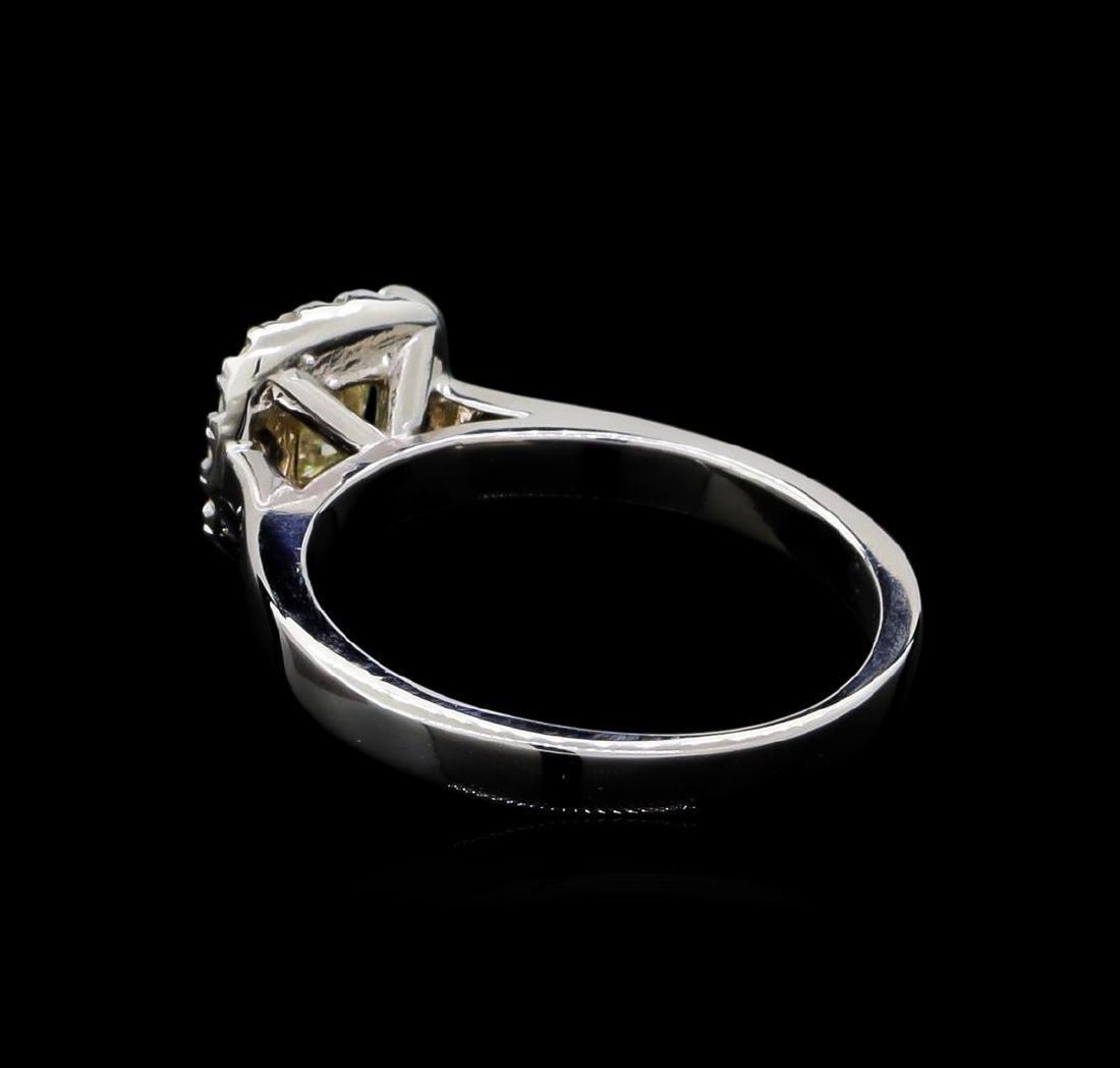 0.66 ctw Diamond Ring - 14KT White Gold - 3