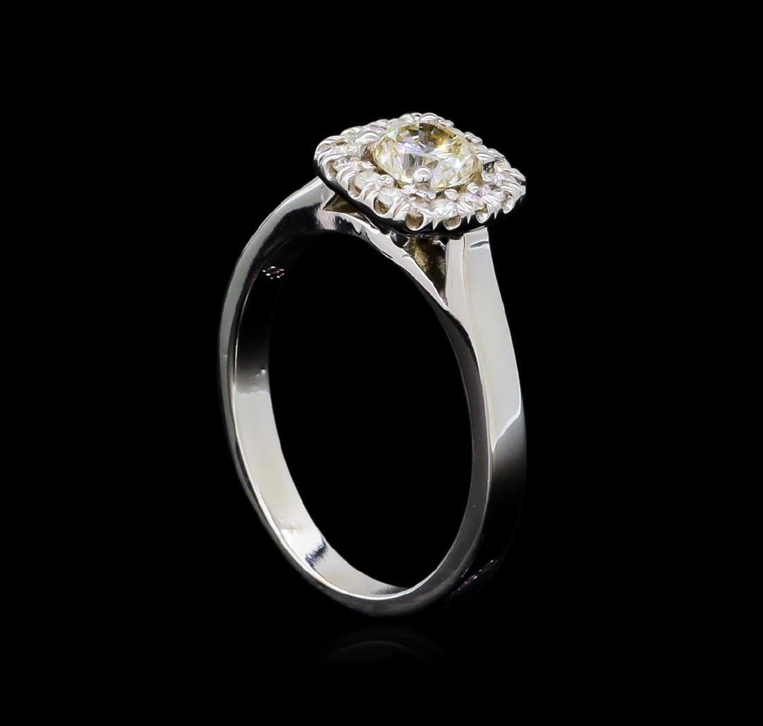 0.66 ctw Diamond Ring - 14KT White Gold - 4