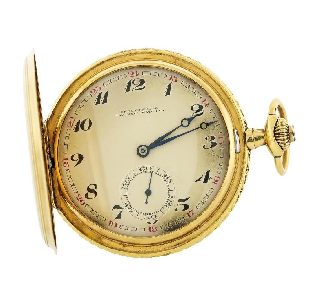 Vintage Tavannes Pocket Watch - 14KT Yellow Gold - 3
