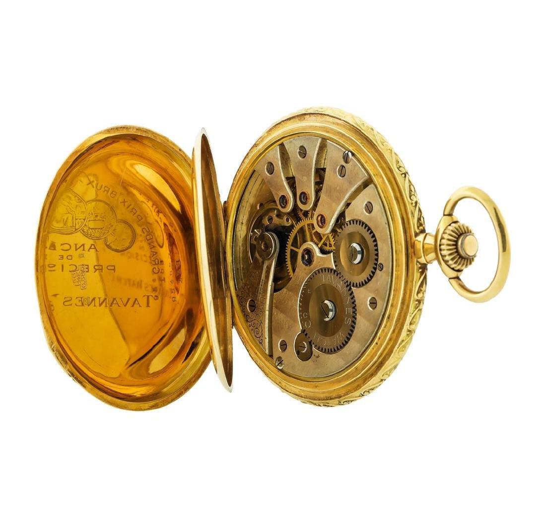 Vintage Tavannes Pocket Watch - 14KT Yellow Gold - 5