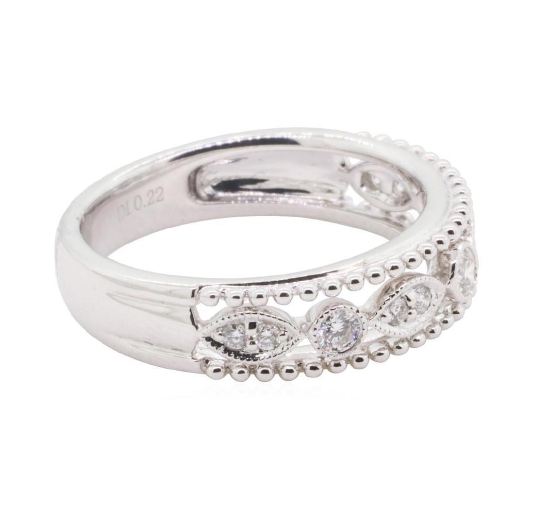 0.22 ctw Diamond Ring - 18KT White Gold - 2