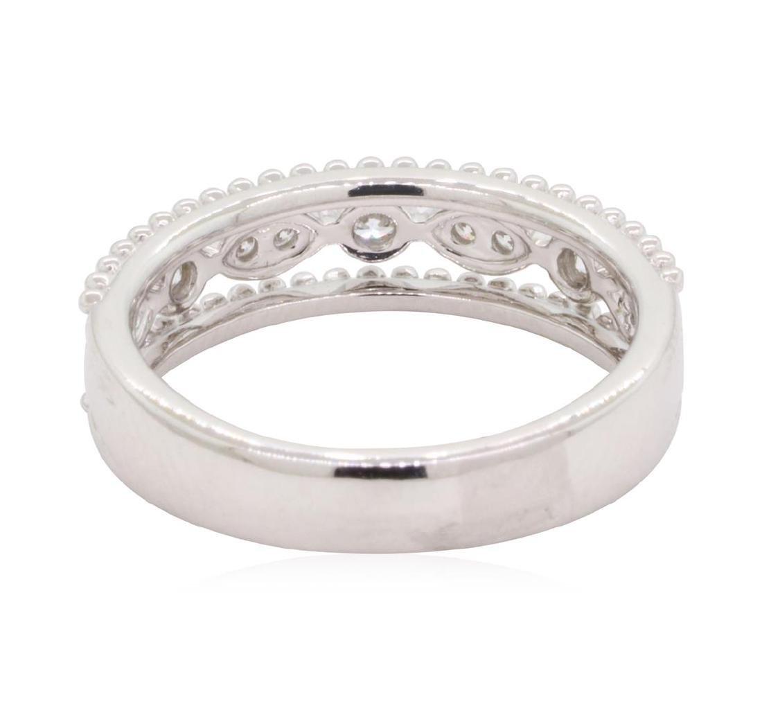 0.22 ctw Diamond Ring - 18KT White Gold - 3