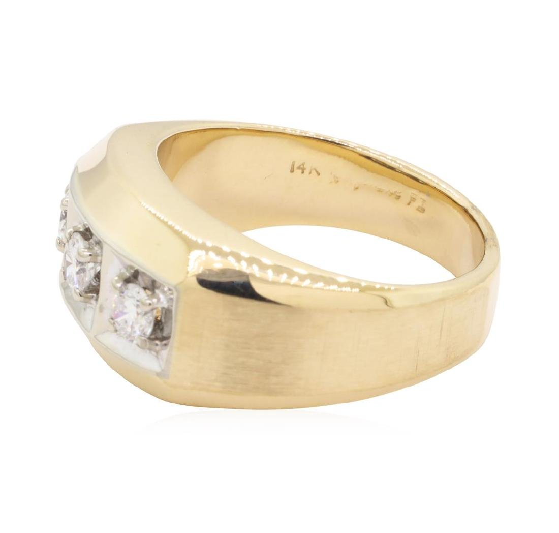 0.5 ctw Diamond Ring -14KT Yellow And White Gold - 2