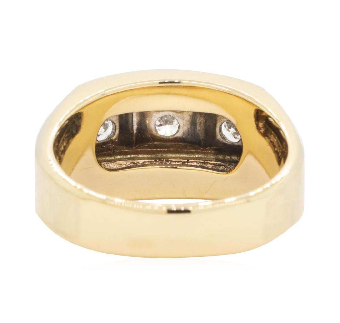 0.5 ctw Diamond Ring -14KT Yellow And White Gold - 3