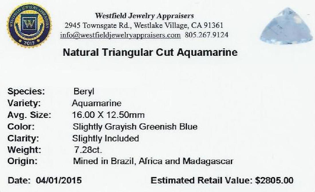 7.28 ctw Triangle Aquamarine Parcel - 2