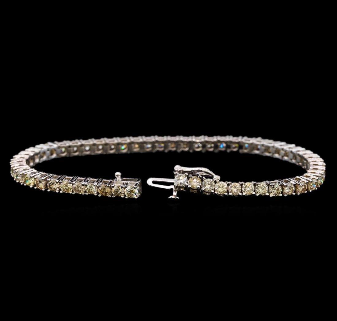 14KT White Gold 6.83 ctw Diamond Tennis Bracelet - 3