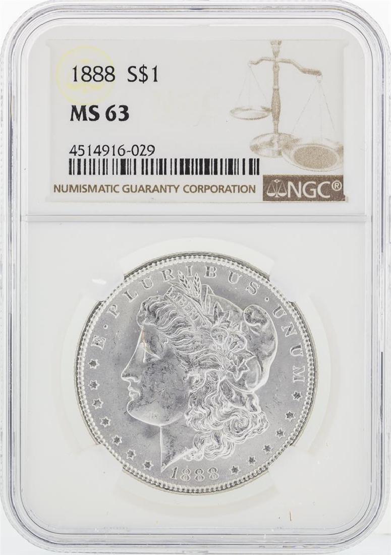 1888 NGC MS63 Morgan Silver Dollar - 2