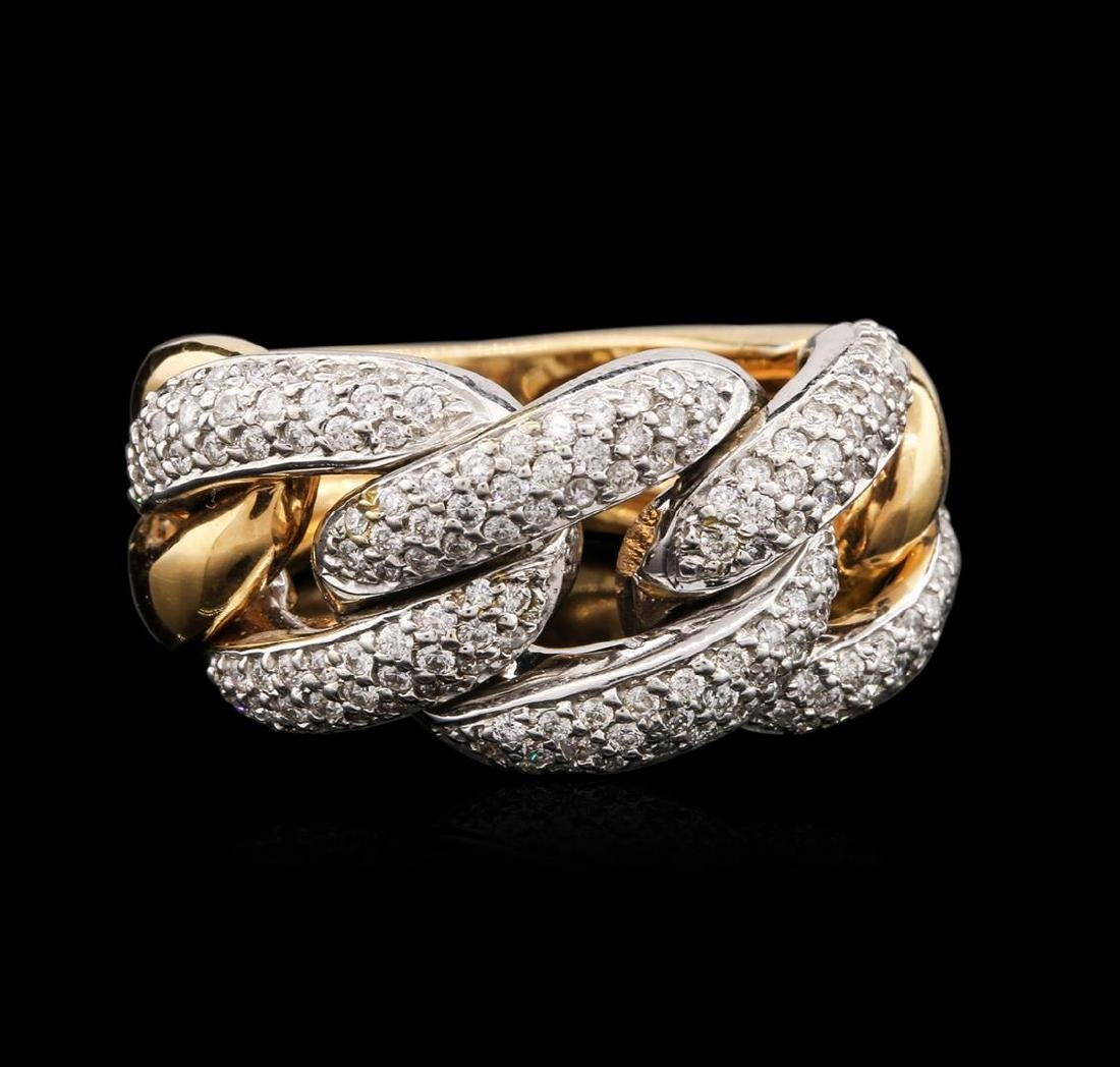 18KT Two-Tone Gold 1.25 ctw Diamond Ring - 2