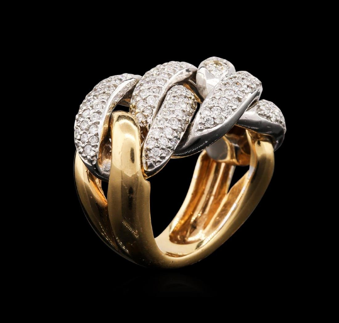 18KT Two-Tone Gold 1.25 ctw Diamond Ring - 3