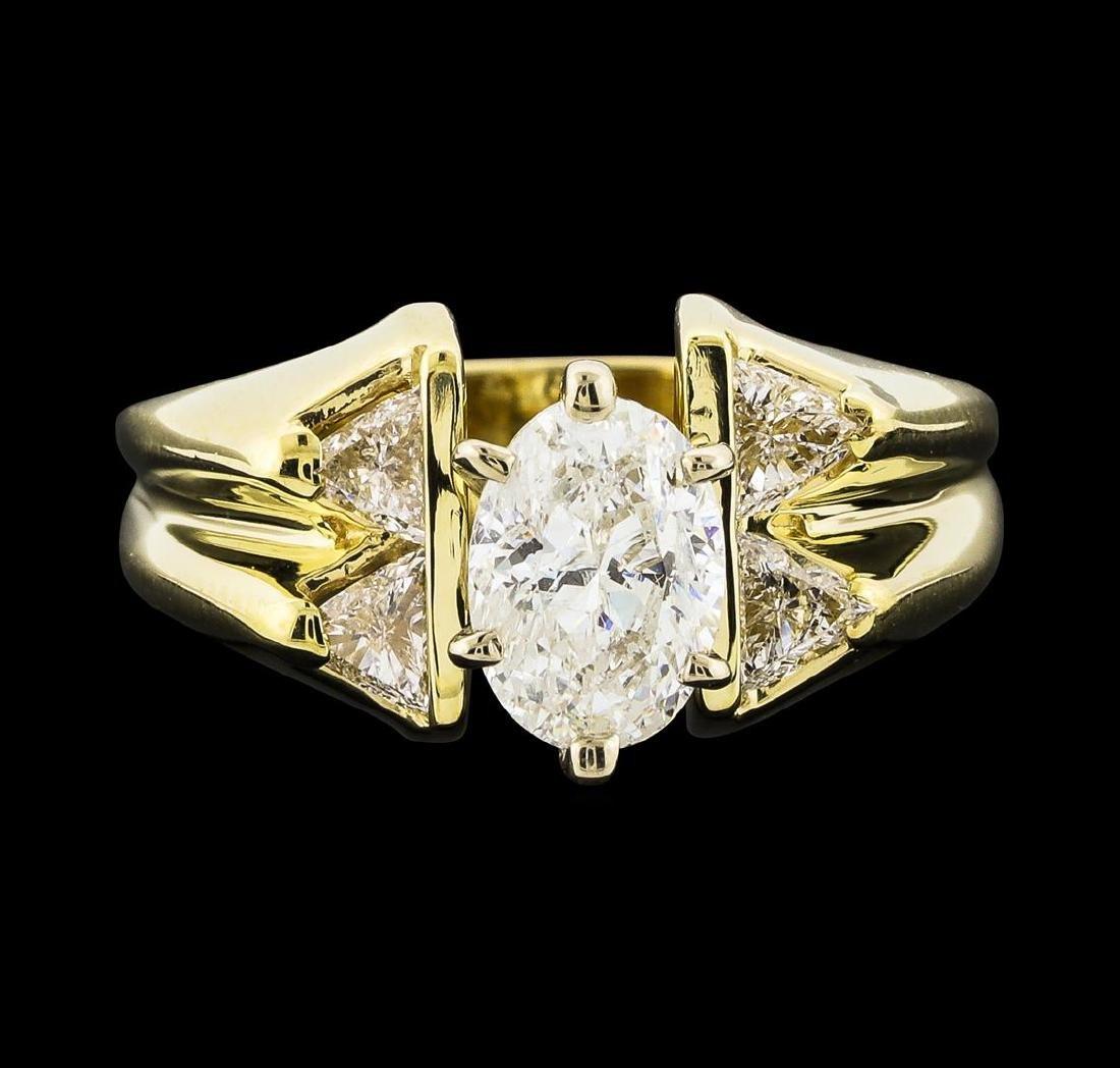 1.45 ctw Diamond Ring - 14KT Yellow Gold - 2