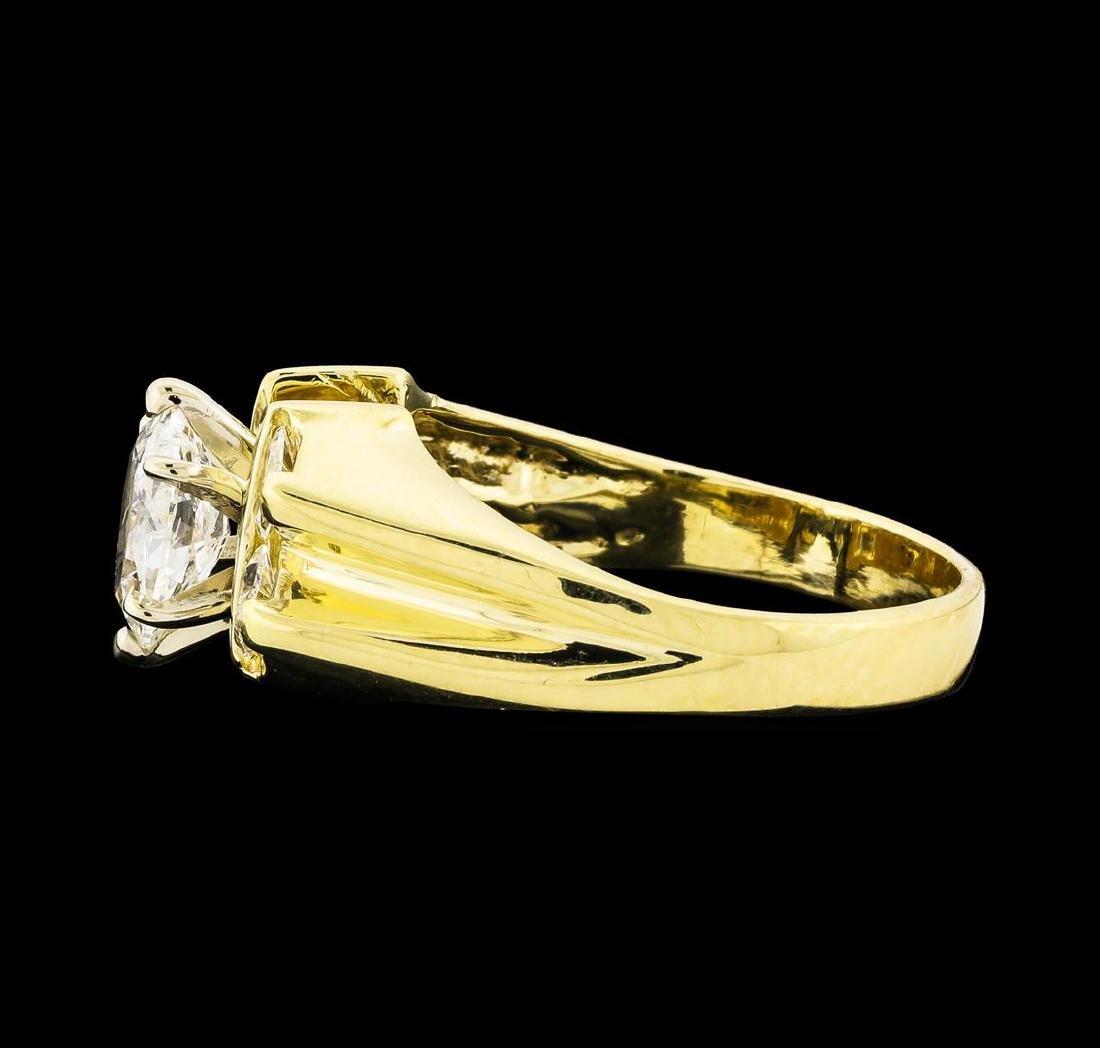 1.45 ctw Diamond Ring - 14KT Yellow Gold - 3