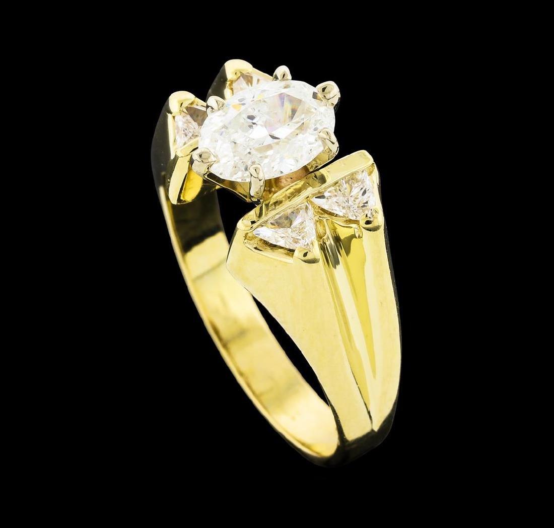 1.45 ctw Diamond Ring - 14KT Yellow Gold - 4
