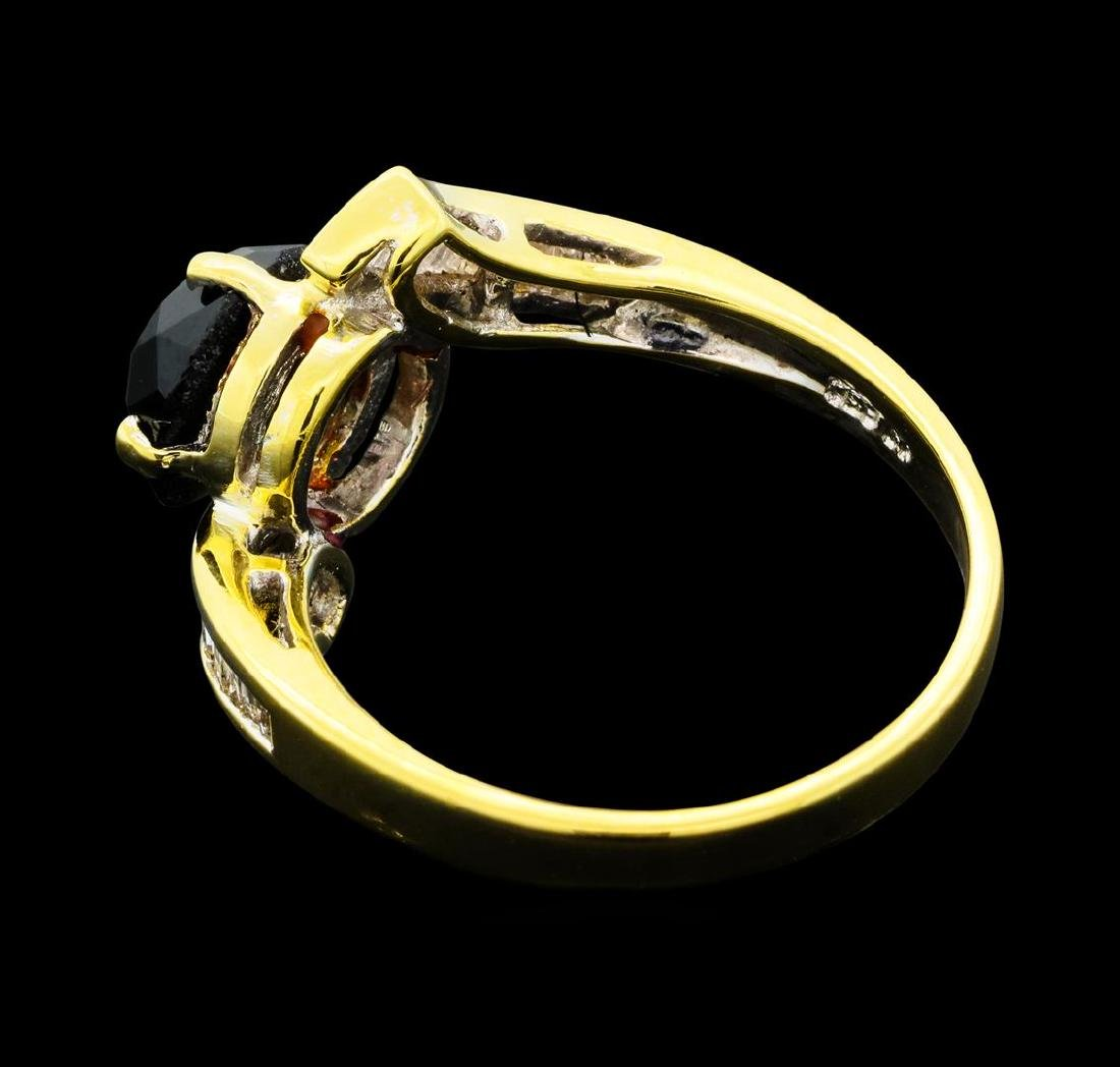 1.40 ctw Black and White Diamond Ring - 14KT Yellow - 3