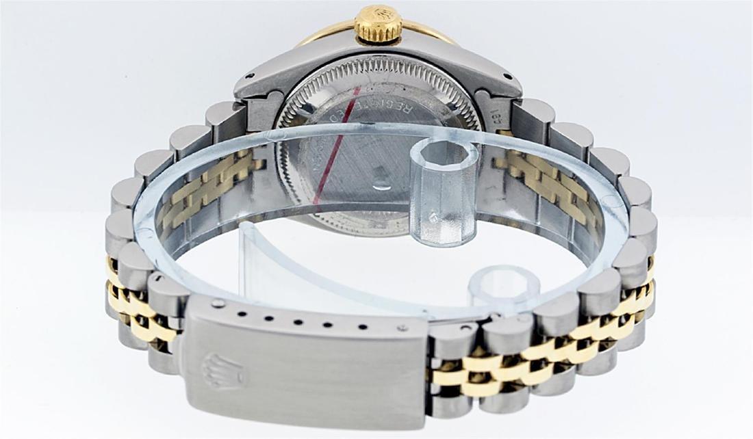 Rolex Ladies 2 Tone 14K MOP Diamond Datejust Wristwatch - 8