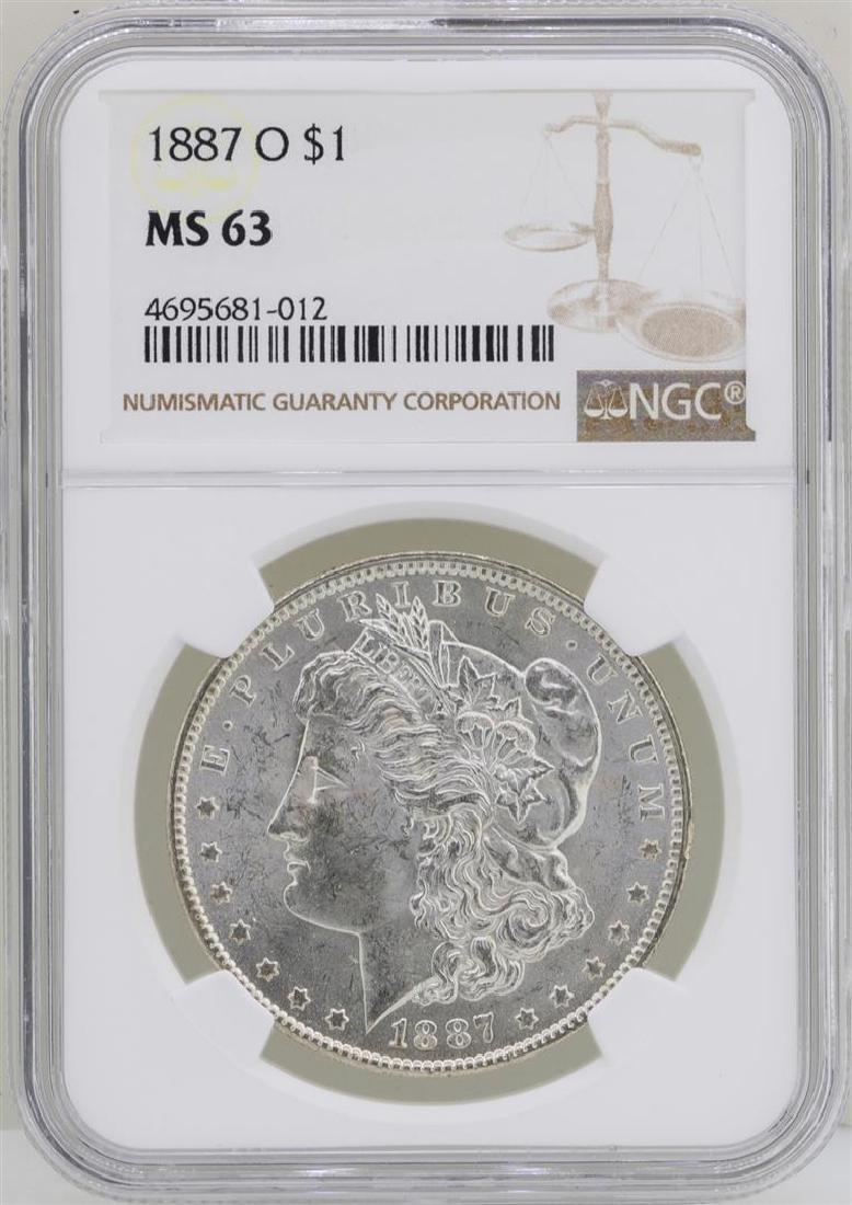 1887-O $1 Morgan Silver Dollar Coin NGC MS63
