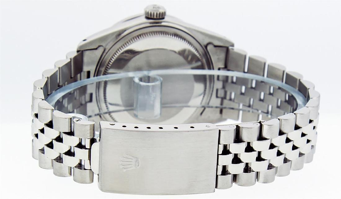 Rolex Mens Stainless Steel Silver Diamond 36MM Datejust - 6