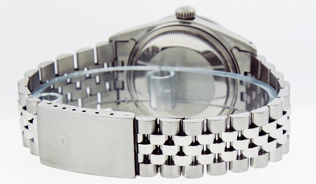Rolex Mens Stainless Steel Silver Diamond 36MM Datejust - 7