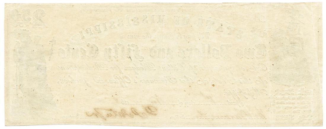 1862 $2.50 Jackson, MS Obsolete Bank Note - 2