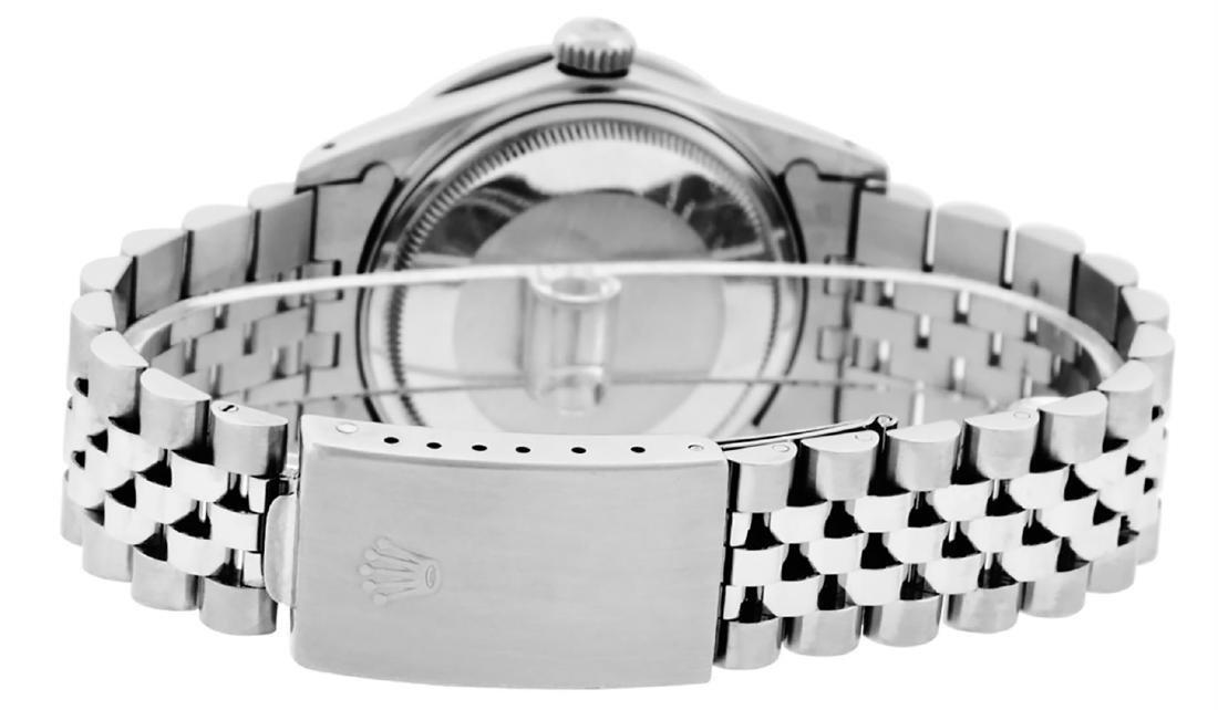 Rolex Mens SS Blue Vignette Diamond & Ruby Channel Set - 7