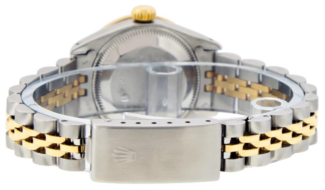 Rolex Ladies 2 Tone 14K Black Diamond Lugs Datejust - 7