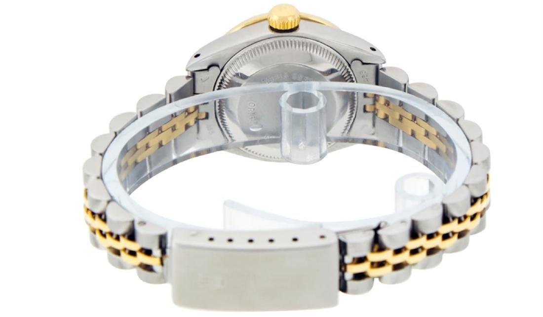 Rolex Ladies 2 Tone 14K Black Diamond Lugs Datejust - 8