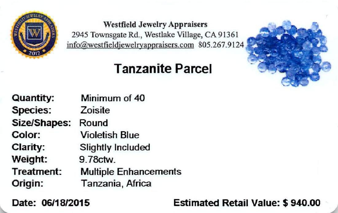 9.78 ctw Round Mixed Tanzanite Parcel - 2