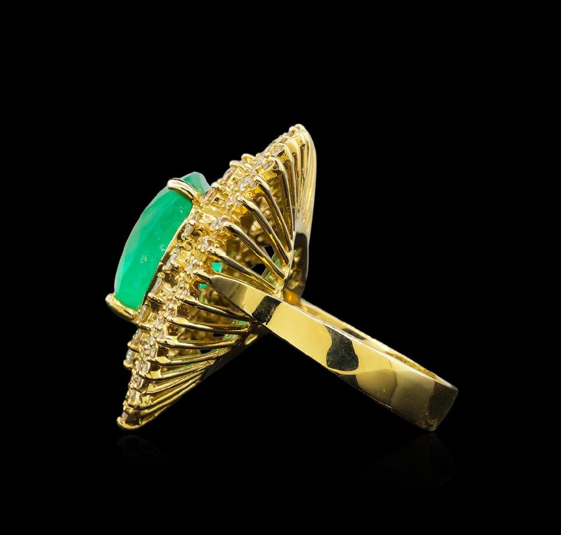14KT Yellow Gold GIA Certified 7.47 ctw Emerald and - 3