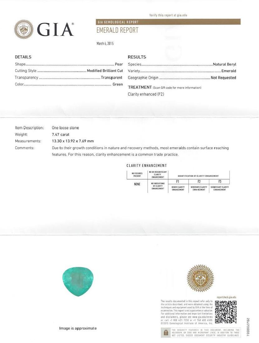 14KT Yellow Gold GIA Certified 7.47 ctw Emerald and - 6