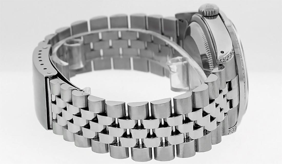 Rolex Mens Stainless Steel Diamond Lugs & Pyramid Bezel - 3