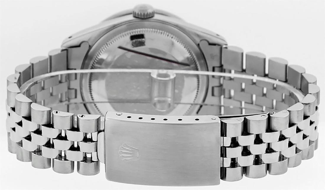 Rolex Mens Stainless Steel Diamond Lugs & Pyramid Bezel - 4