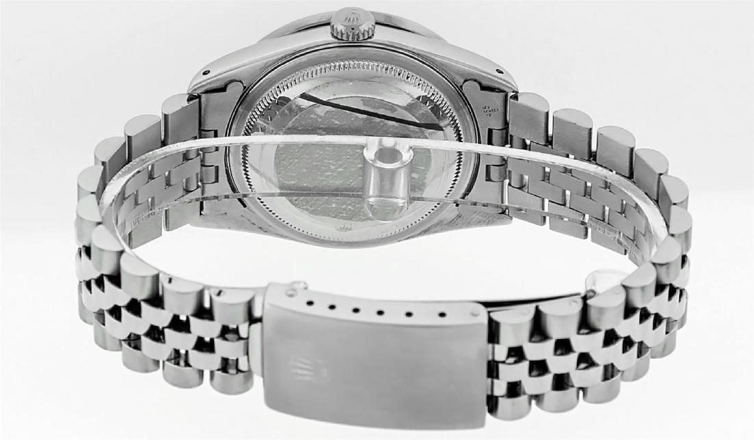 Rolex Mens Stainless Steel Diamond Lugs & Pyramid Bezel - 5