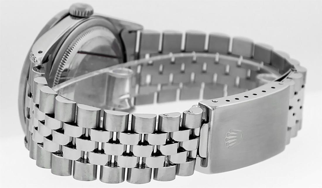 Rolex Mens Stainless Steel Diamond Lugs & Pyramid Bezel - 6