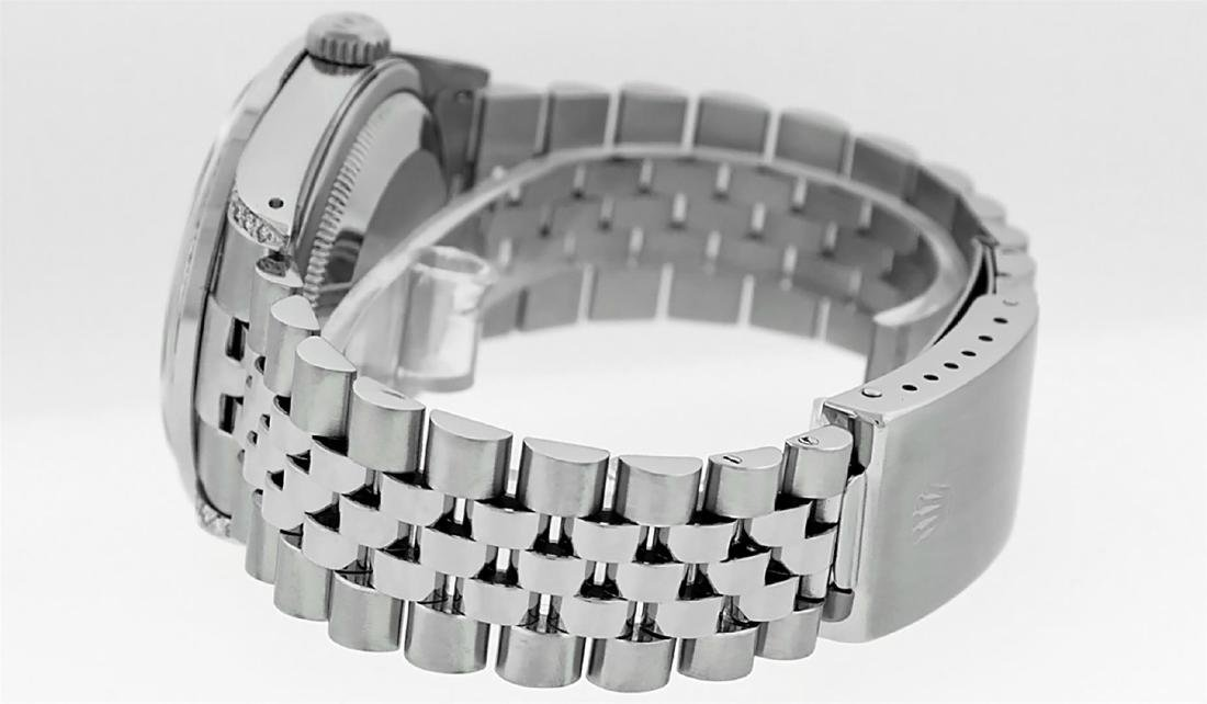 Rolex Mens Stainless Steel Diamond Lugs & Pyramid Bezel - 7