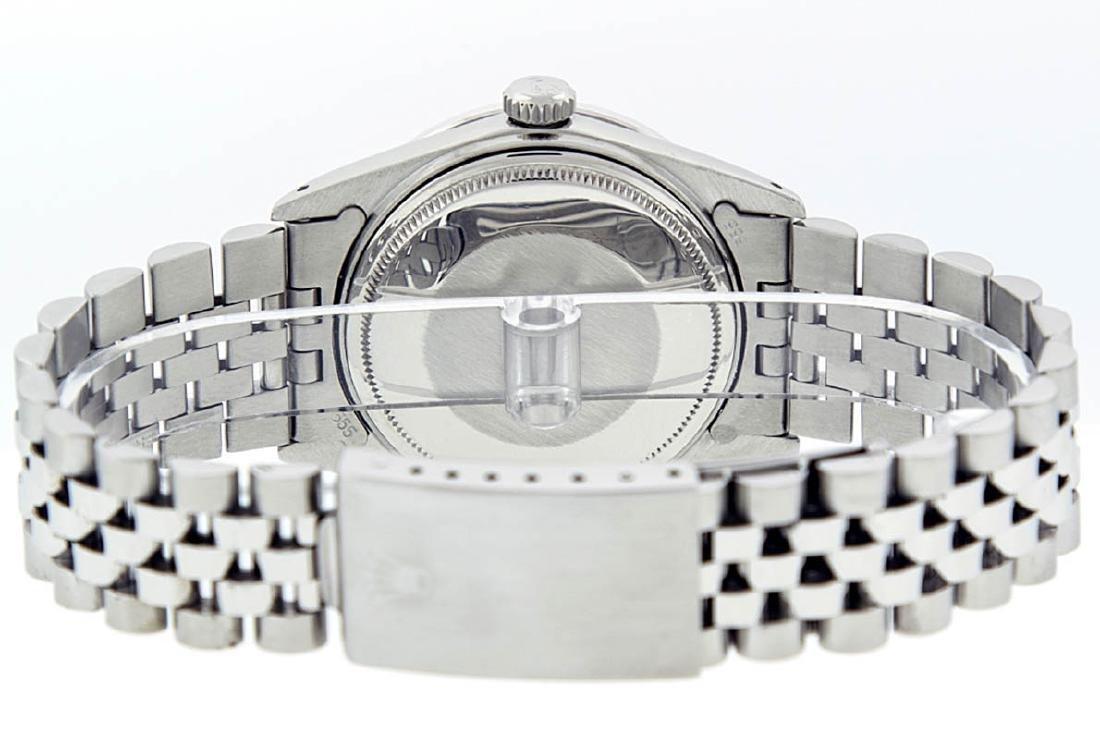 Rolex Mens Stainless Steel 36mm Black Diamond Dial - 5