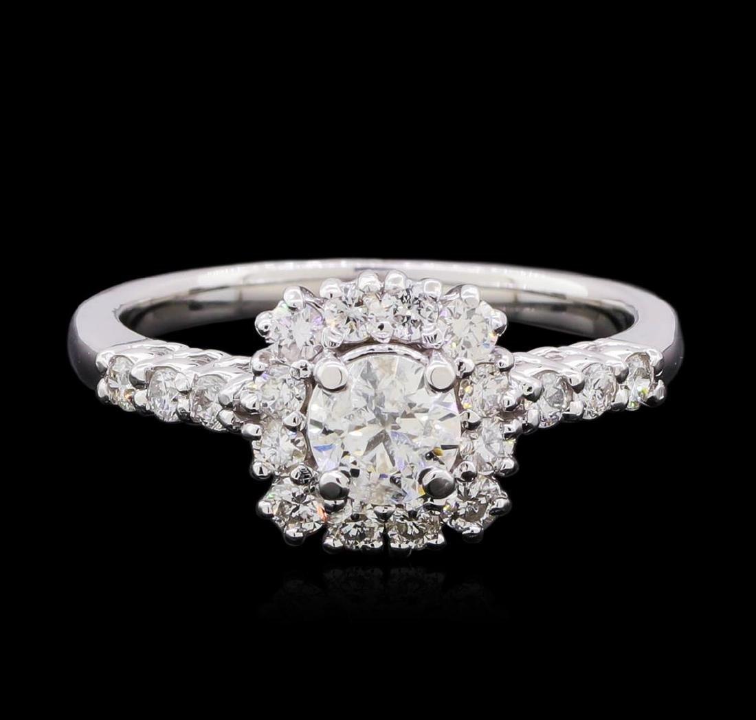 0.98 ctw Diamond Ring - 14KT White Gold - 2