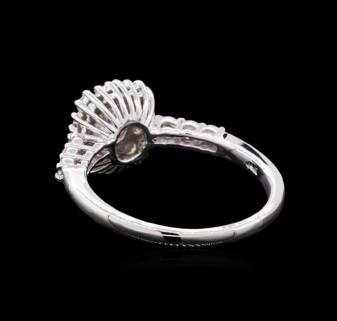 0.98 ctw Diamond Ring - 14KT White Gold - 3