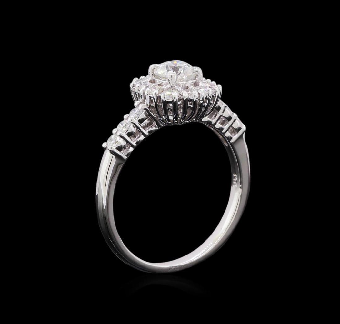 0.98 ctw Diamond Ring - 14KT White Gold - 4