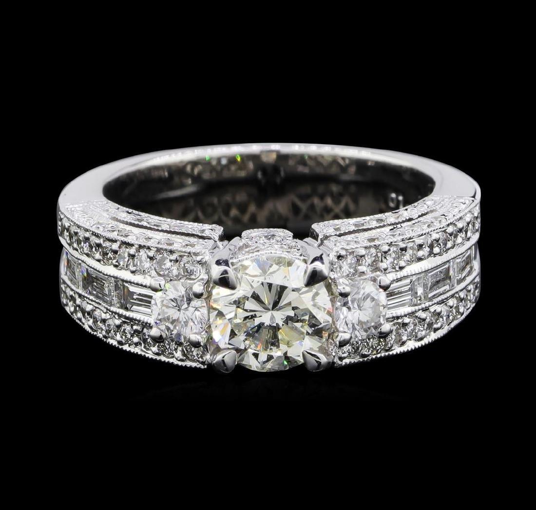 2.14 ctw Diamond Ring - 18KT White Gold - 2