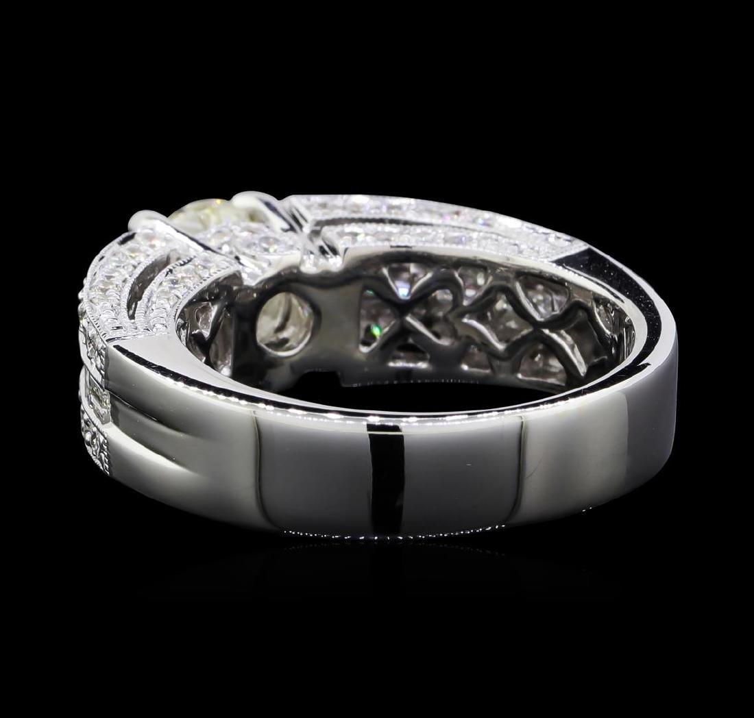 2.14 ctw Diamond Ring - 18KT White Gold - 3