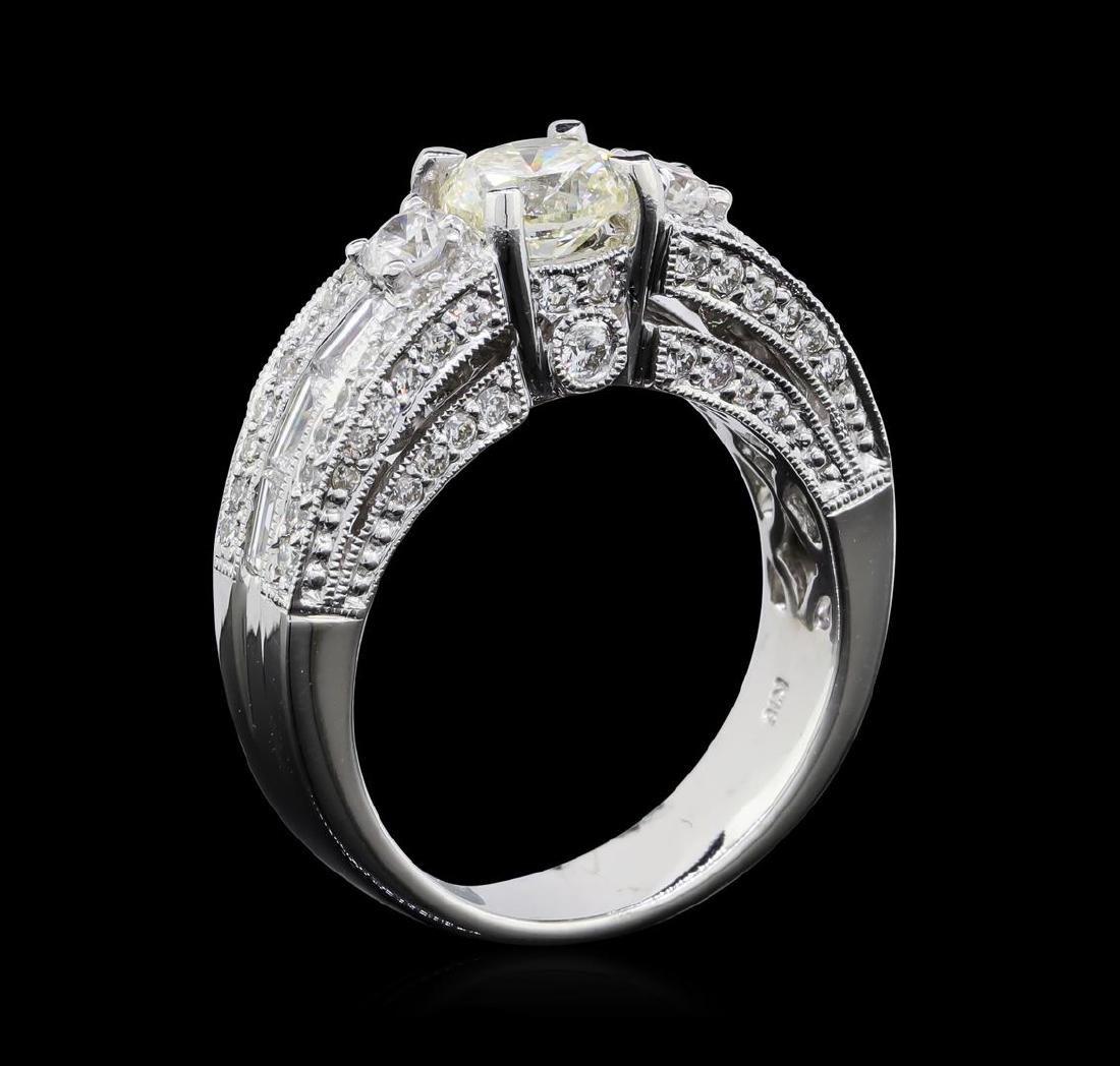 2.14 ctw Diamond Ring - 18KT White Gold - 5