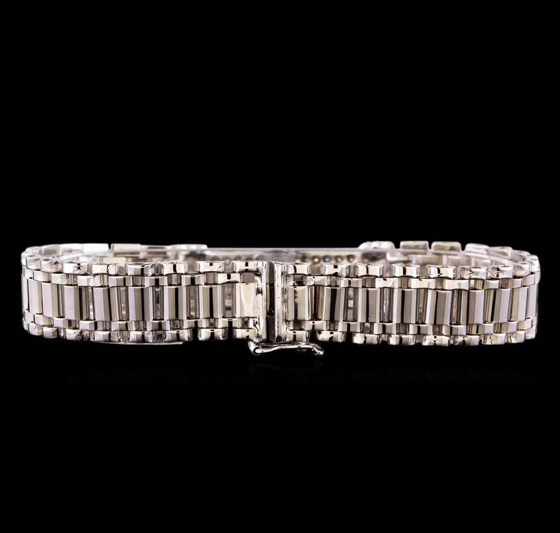 0.88 ctw Diamond Bracelet - 14KT White Gold - 2