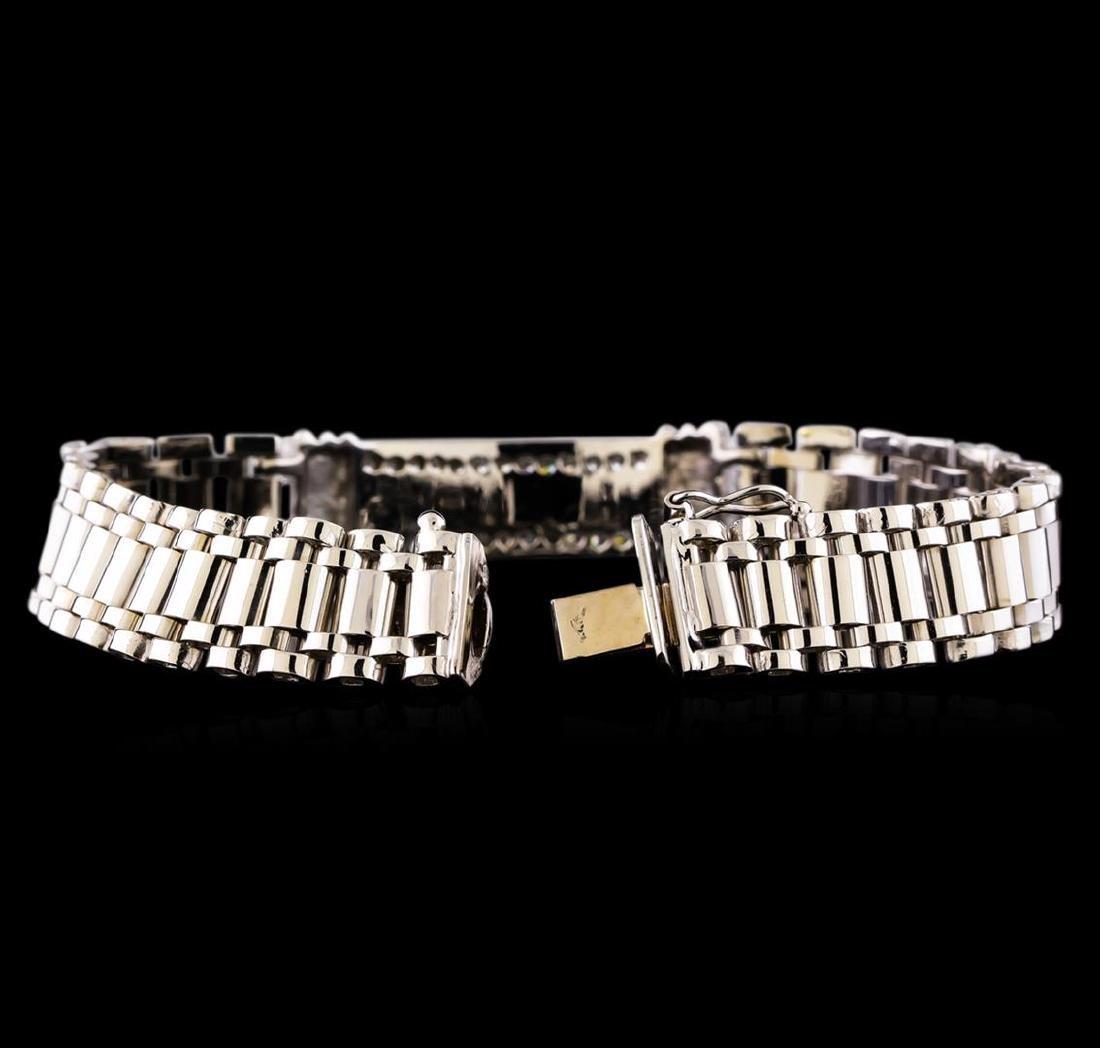 0.88 ctw Diamond Bracelet - 14KT White Gold - 3