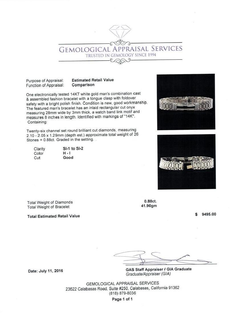 0.88 ctw Diamond Bracelet - 14KT White Gold - 4