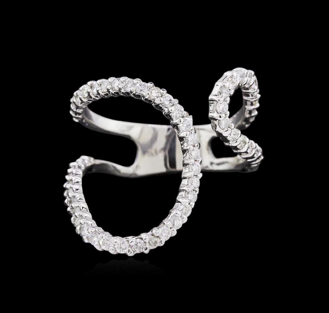 0.90 ctw Diamond Ring - 14KT White Gold - 2