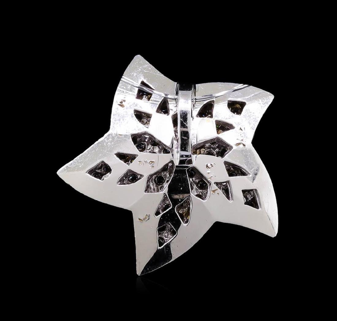 0.52 ctw Pink Sapphire and Diamond Star Pendant - 18KT - 2