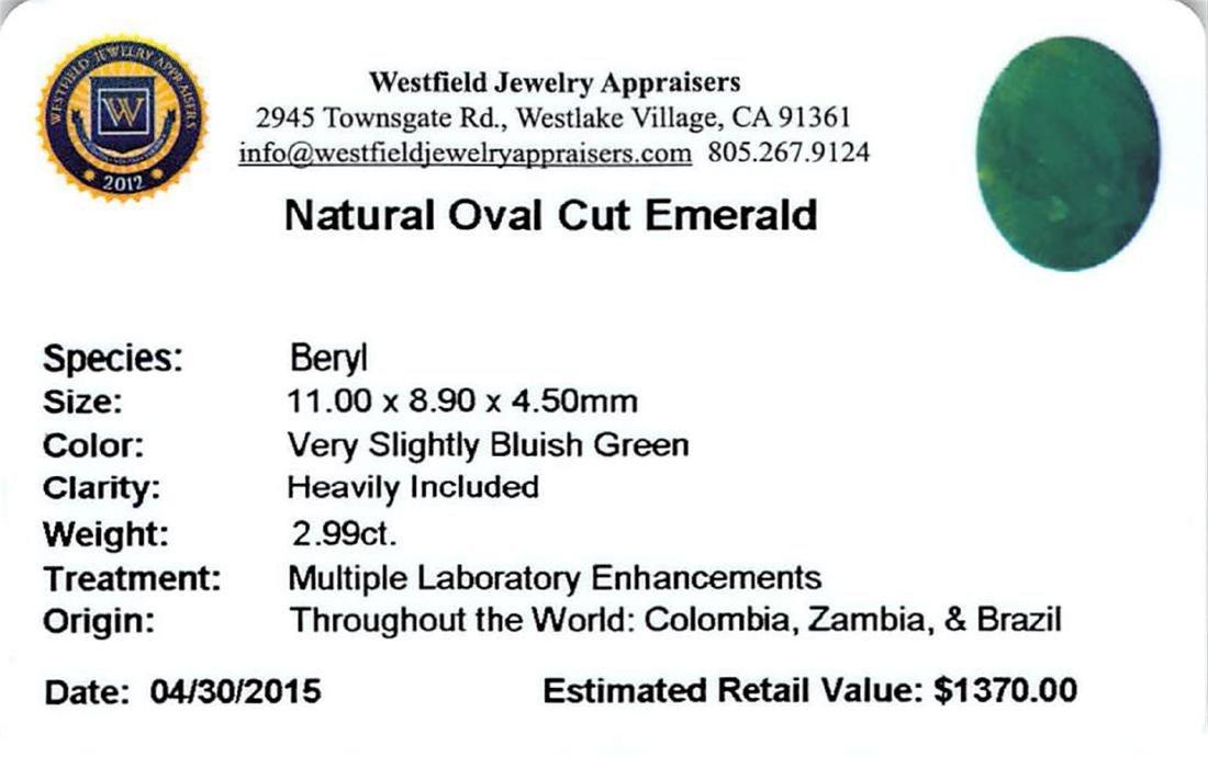 2.99 ctw Oval Emerald Parcel - 2
