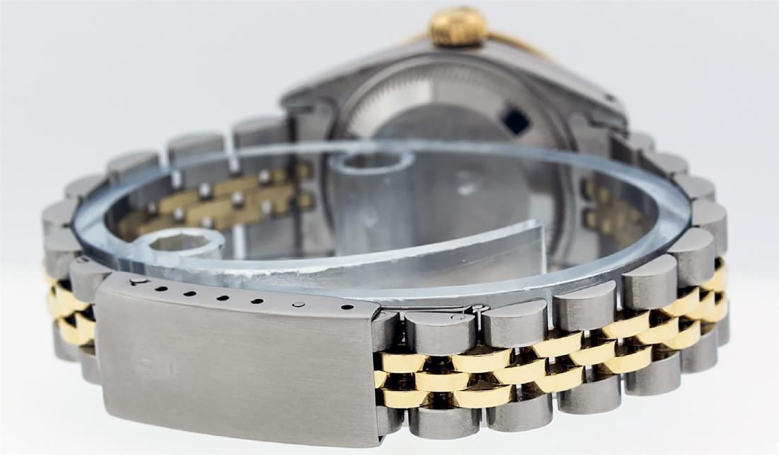 Rolex Ladies 2 Tone 14K Champagne Diamond Lugs Datejust - 4
